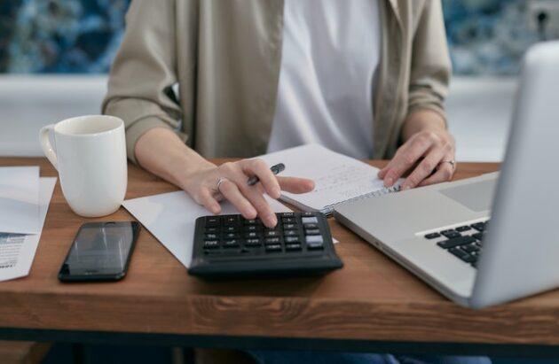 woman computing