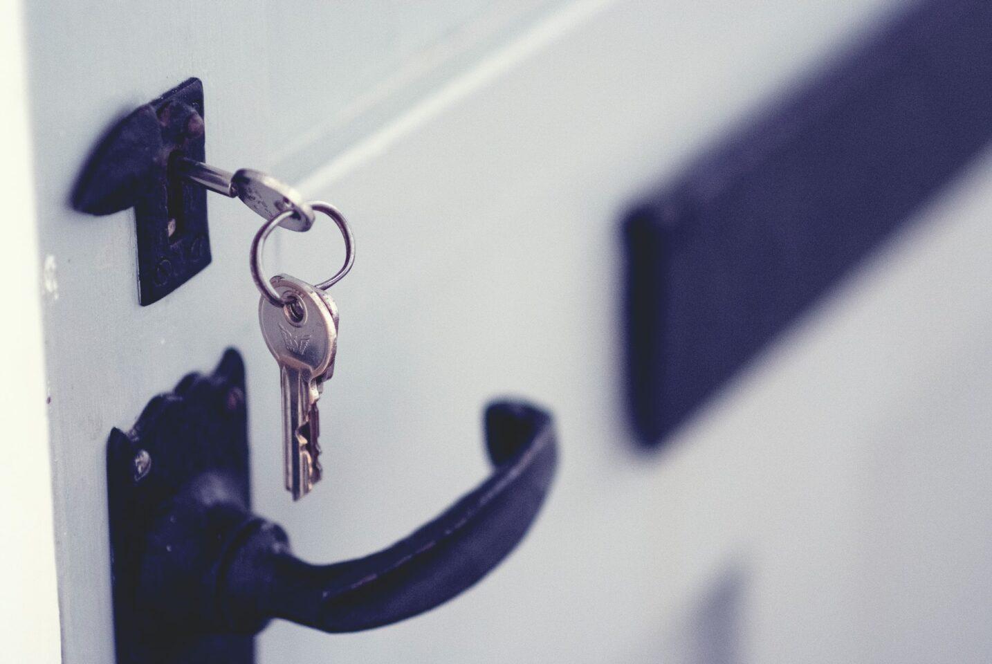 key inside a door